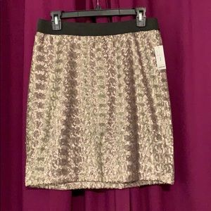 Gold Sequenced Skirt